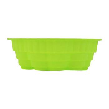 Силиконова форма за печене в зелен цвят