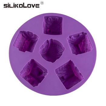 Силиконова форма за печене в лилав цвят