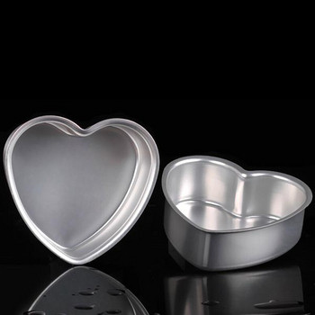 Алуминиева тава за печене във формата на сърце със свалящо се дъно