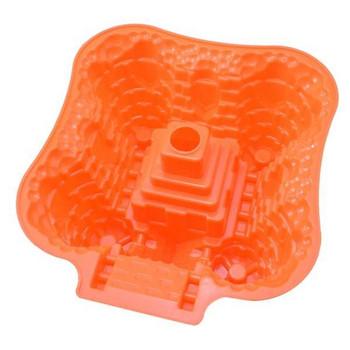 Силиконова форма за печене на сладкиши в лилав, червен и оранжев цвят
