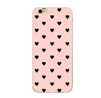 Калъф за iPhone 6 и iPhone 6S в розов цвят със сърца