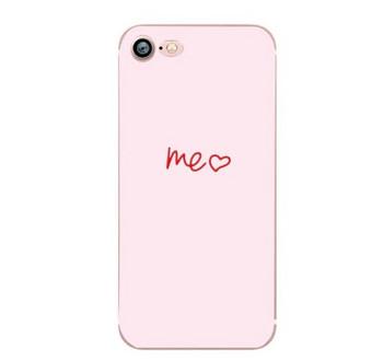 Калъф за iPhone 7 и iPhone 8 в розов цвят с надпис