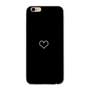 Калъф за iPhone 6 и iPhone 6S в черен цвят със сърце