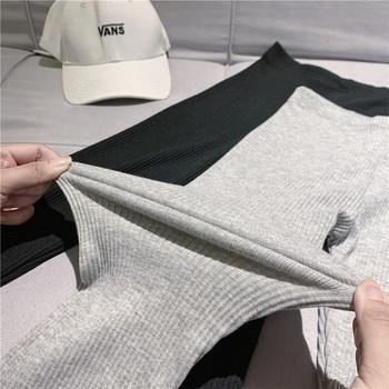 Спортно-ежедневен клин в сив и черен цвят