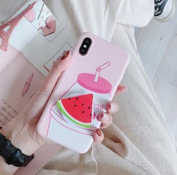 Калъф с пръстен във формата на диня за iPhone X и iPhone XS в розов цвят