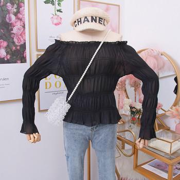 Νέο μοντέλο μοντέρνα γυναικεία μπλούζα με λαιμόκοψη