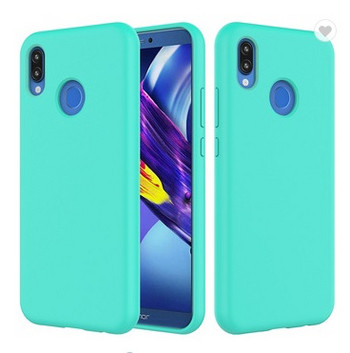Силиконов калъф в син цвят за Huawei P20 Lite