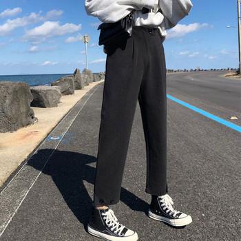 Casual γυναικείο παντελόνι κλασικό μοντέλο σε μαύρο, μπεζ και καφέ χρώμα