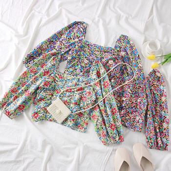 Νέο μοντέλο γυναικεία μπλούζα με floral μοτίβα - σε διάφορα χρώματα
