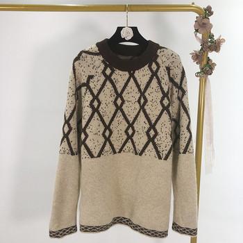 Ευρύ γυναικείο πουλόβερ σε τρία χρώματα