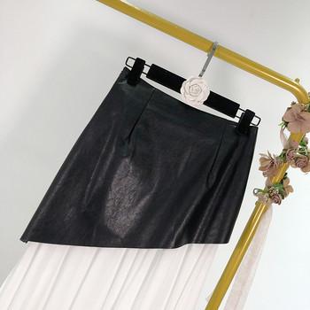 Γυναικεία μακρύ φούστα από έκο δέρμα