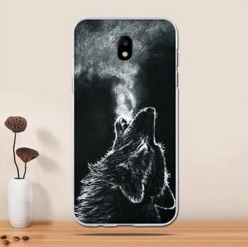 Силиконов калъф за Samsung Galaxy J5 в черен цвят с апликация