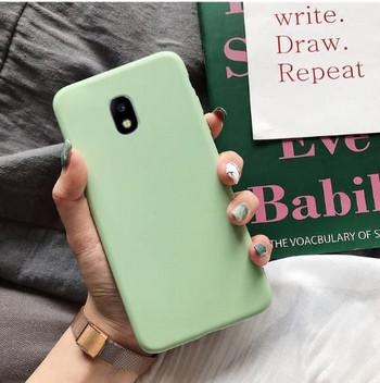 Изчистен калъф за Samsung Galaxy J7 в зелен цвят