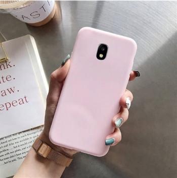 Силиконов калъф за Samsung Galaxy J7 в розов цвят