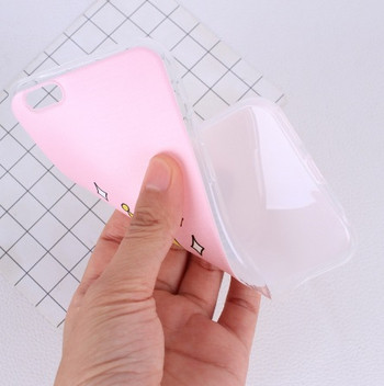 Силиконов калъф за iPhone 6 и iPhone 6S в розов цвят с корона и надпис