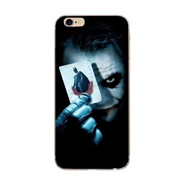 Защитен калъф за iPhone 6 и iPhone 6S в черен цвят с апликация - Жокера