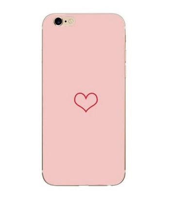 Розов калъф за iPhone 6 и iPhone 6S със сърце