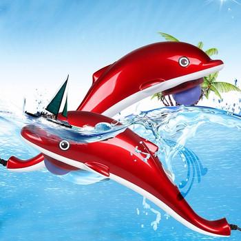 Електрически масажор във формата на делфин с шест сменяеми приставки