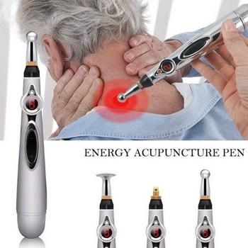 Електрическа писалка - масажор за облекчаване на болката в тялото с две приставки