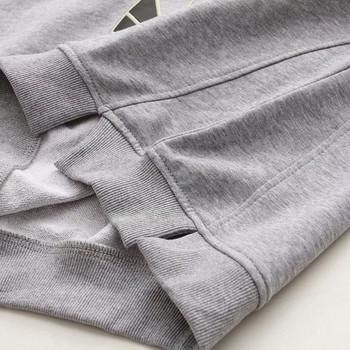 Ежедневна дамска блуза с дълъг ръкав и О-образно деколте в сив и черен цвят