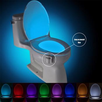 LED oсветление за тоалетна чиния със сензор и променящи се цветове