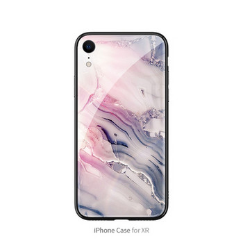 Модерен силиконов калъф с мраморен ефект за Iphone XR