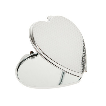 Κομψό καθρέφτη με ασημί χρώμα σε σχήμα καρδιάς