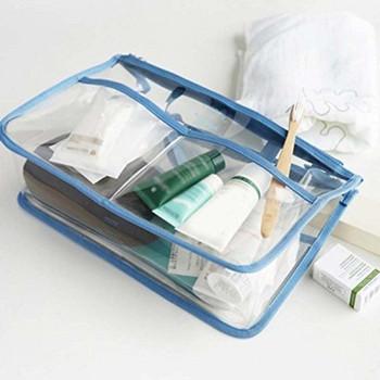 Прозрачен PVC водоустойчив несесер за всякакви принадлежности