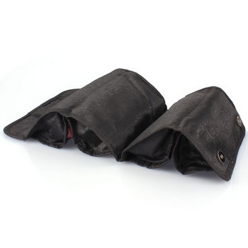 Επεκτάσιμη καλλυντική τσάντα ταξιδιού σε μαύρο και κόκκινο χρώμα