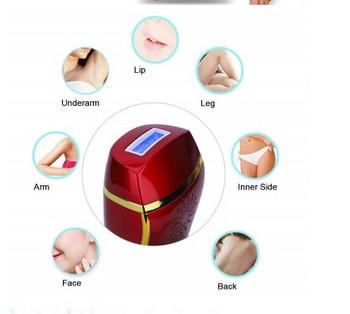 Σησκευή κατάλληλη για αποτρίχωση με λέιζερ του προσώπου και του σώματος σε κόκκινο χρώμα