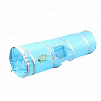 Сгъваема играчка за домашни любимци в син цвят - Тунел