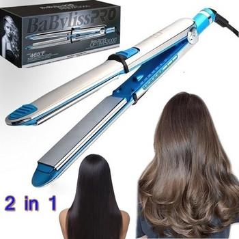 Κεραμικό επίστρωμα μαλλιών ίσιωμα και Curl Press σε γκρίζο χρώμα