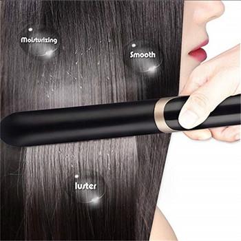 Πρέσσα μαλλιων με με  ιόν και  οθόνη LED σε μαύρο χρώμα