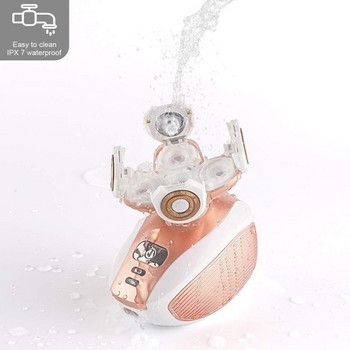 Водоустойчива електрическа самобръсначка с 4D въртящ се накрайник