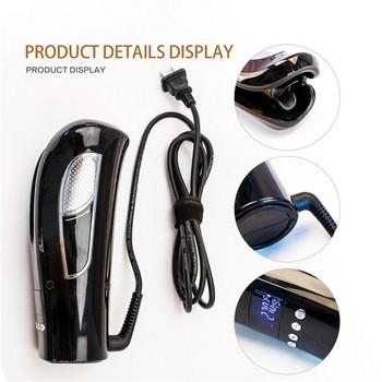 Автоматична маша за къдрене на косата с LED дисплей и загряване до 210 C в черен и червен цвят