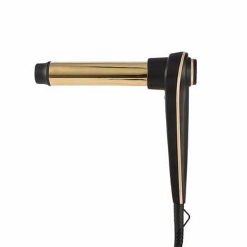 Маша за коса с удобна форма за бързо къдрене и LED дисплей в черно-златист цвят