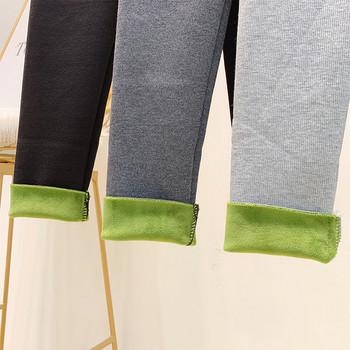 Дамски зимен клин с мека подплата и висока талия в три цвята