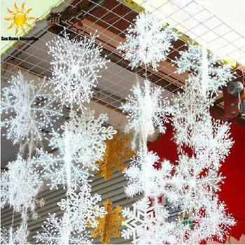 Декоративна снежинка за коледна украса в бял цвят