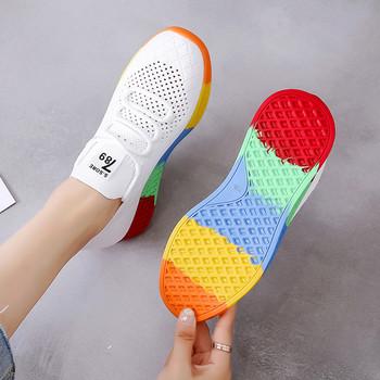 Дамски ежедневни маратонки с цветна  подметка