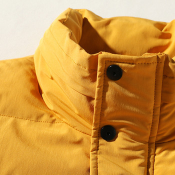 Ежедневен мъжки елек с висока яка и джобове в жълт,черен и бял цвят