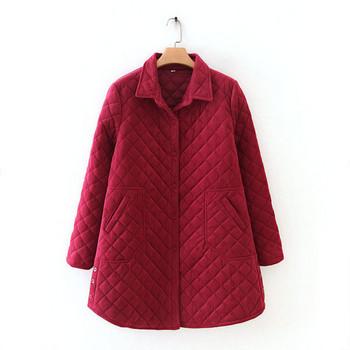 Ежедневно дамско дълго палто с джобове и копчета в кафяв,черен и розов цвят