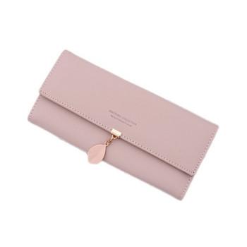 Κομψό γυναικείο πορτοφόλι με μεταλλικό στοιχείο σε έξι χρώματα