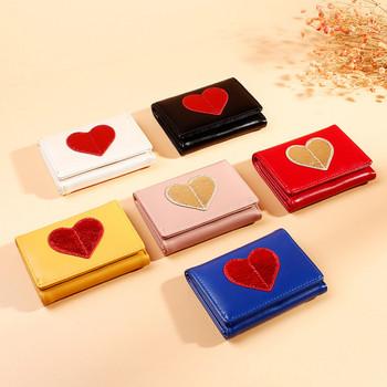Casual γυναικείο πορτοφόλι με κεντήματα σε έξι χρώματα