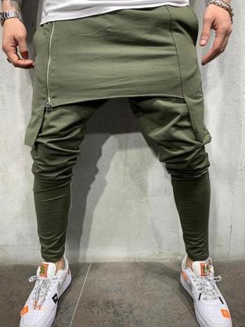 НОВ модел спортно-ежедневно мъжко долнище с цип в три цвята