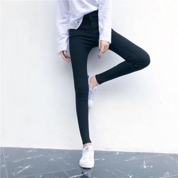 Дамски дълги панталони в черен цвят втален модел