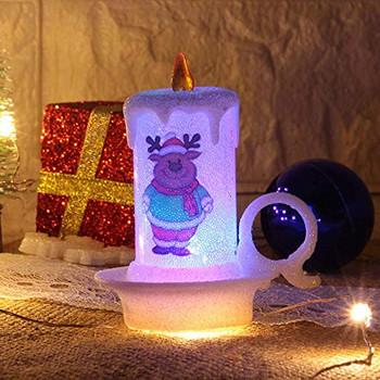 Светодиодна лампа в няколко различни коледни дизайна на свещ