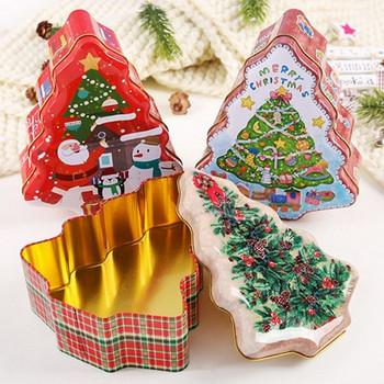 Декоративна коледна кутия във формата на елха - 4 модела