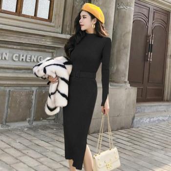 Късо елегантно пухено палто в черно-бял цвят