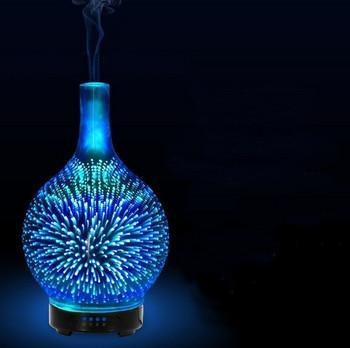 Ултразвуков стъклен дифузер за ароматерапия с 7 цветни LED светлини
