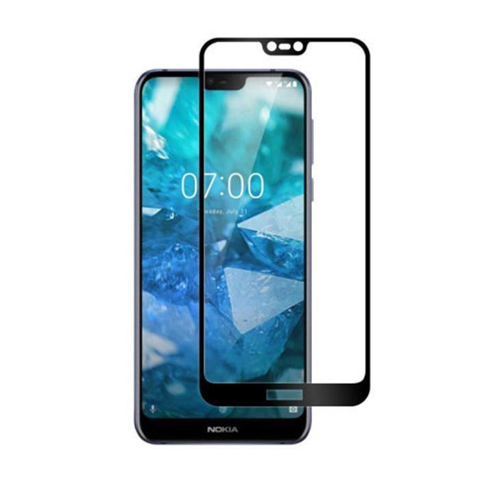 Стъклен протектор за Nokia 7.1-9D черен